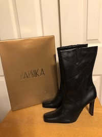 New - Paprika Women's Size 8.5 Black Banana Faux Leather Boots  Baltimore, 21236