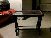 rectangular glass top table with black wooden frame Tallmadge, 44278