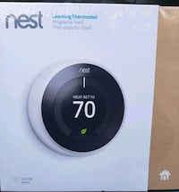white and black Nest learning thermostat box Temple Hills, 20748