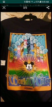 black and multicolored World of Color shirt screenshot San Antonio, 78239