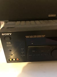 Digital audio/video receiver and center channel speaker