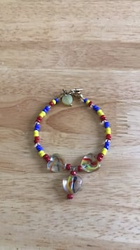 Blue, yellow, and red beaded bracelet  Richmond, 23225
