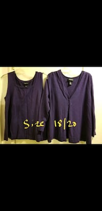 Plus size cardigan and matching tank  size 18/20 price negotiable Vacaville, 95687