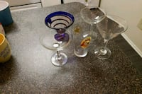 two clear glass candle holders 21 km