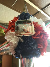 red, white, and blue ruffle star lantern Pueblo, 81004