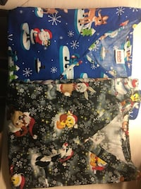 Christmas Scrub Tops (L/XL) EUC - $10 ea/$15 both London