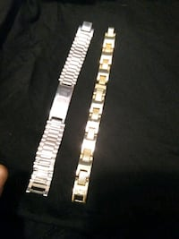 Gold plated/stainless steel, bracelets St. Catharines