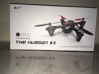 Hubsan H107C X4 Mini Quadcopter with 0.3MP Camera, Transmitter Included, Silver and Red New York, 11385