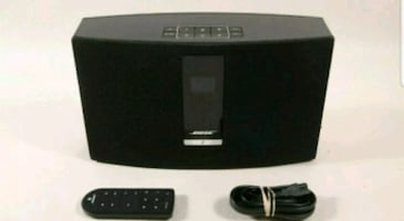 Bose sound touch 20 with Remote control and power cord.