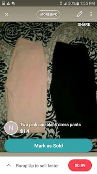 Dress pants pink available only