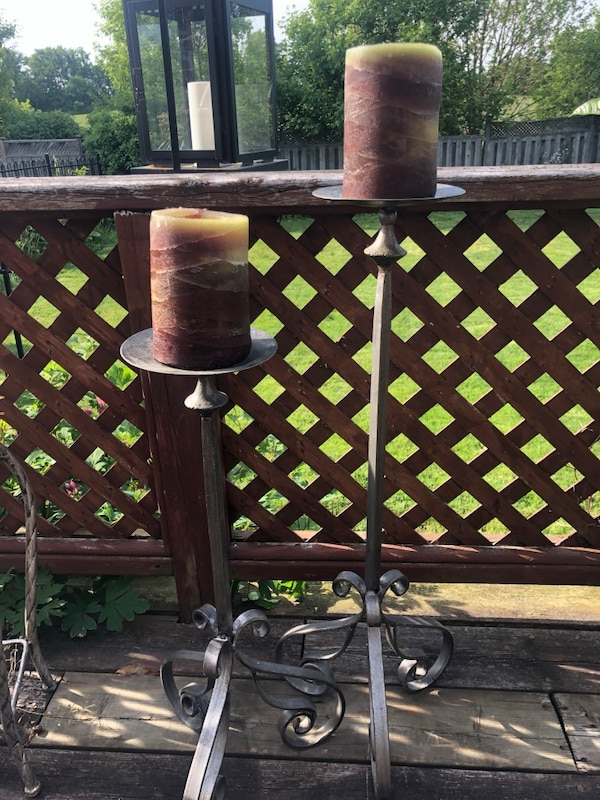 IRON FLOOR CANDLE STICK HOLDERS