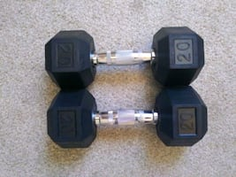 2 dumbbells, 20 pounds each