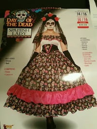 Day of the Dead Spanish Lady Halloween Costume  Calgary, T2Z 0V5