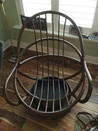 Bamboo swivel rocker