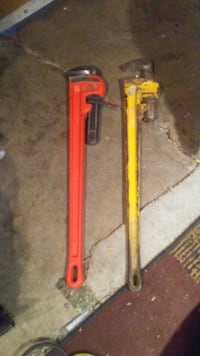 red and yellow 36inch pipe wrench CALGARY