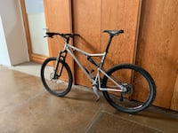 gray and black hard tail mountain bike Los Angeles, 90012