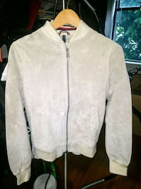 100% leather suade bomber jacket.  Vancouver, V6E 1M2