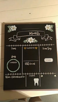 Monthly chalkboard  Vaughan, L6A