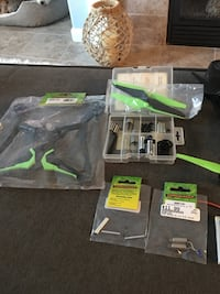 Green and black quadcopter