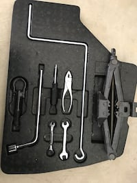 Black and gray metal tool set.  Full Spare for Lexus ES300. Must go! New! White Plains, 20695