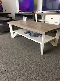 Grace Coffee Table, Dark Taupe and Ivory, SKU # 161602CT Santa Fe Springs