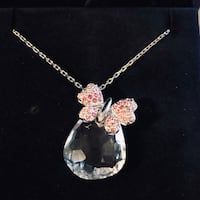 Swarovski Crystal butterfly necklace. Excellent condition, never worn. Mississauga, L4Z 0A5