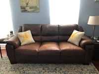 Brown faux leather 3-seat sofa and love seat obo Columbia, 21046