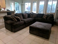 Large sectional down feather couch La Quinta, 92253