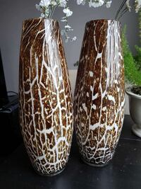 Pair of blown glass floor vases from Pier 1 Import Milton, L9T 4Y5