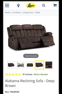 Brown 3 seats reclining sofa Edmonton, T5R 4K3