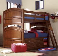 Lea Deer Run Twin over Twin Bunk Bed CENTREVILLE