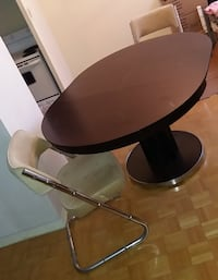 CHERRY DINING room Oval Dining Table with 4 fur chairs Toronto, ON M6E, Canada