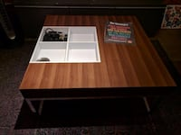 Modern square coffee table with storage cubbies Seattle
