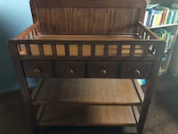 baby's brown wooden changing table Los Angeles, 91342