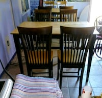 High Boy Table & 4 Chairs Cocoa, 32922