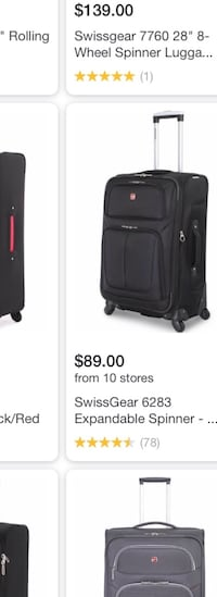 FIRM PRICE SWISS GEAR 4WHEEL SPINNER SUITCASE LUGGAGE STANDARD CARRY ON SIZE  Ventura, 93003
