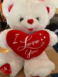 white and red bear plush toy Greenbelt, 20770