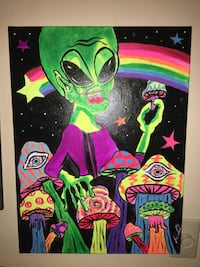 black and green alien painting West Chester, 45069
