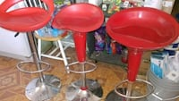 two red leather bar stools Avondale, 85323