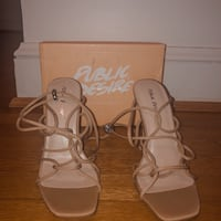NUDE STRAPPY HEELS SIZE 7 Silver Spring, 20904