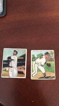 1950  Bowman Ted Williams and Vernon Bickford Card