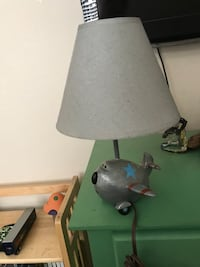brown and gray plane lamp
