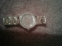 round silver chronograph watch with silver link bracelet Prince George, V2M