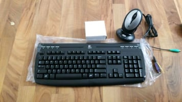 Logitech keyboard with wireless recharable mouse