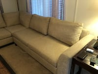 Beige mix fabric sectional sofa Bothell, 98011