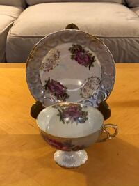 Antique Tea Cup & Saucer From Sterling China Of Japan.