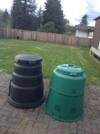Two compost bin never used 25 each 3693 km