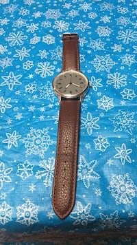 analog watch with brown leather strap Smith-Ennismore-Lakefield, K9J
