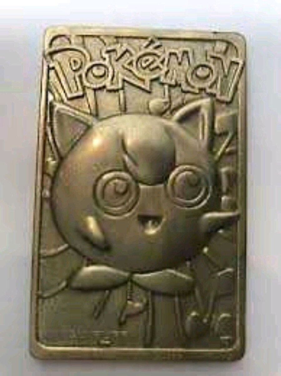 Photo 23 kt gold plated jigglypuff and Pikachu card