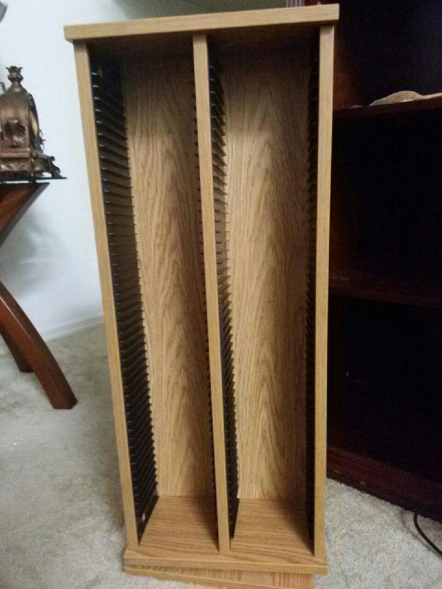 used rotating wood cd stand holder for sale in port st lucie letgo rh us letgo com